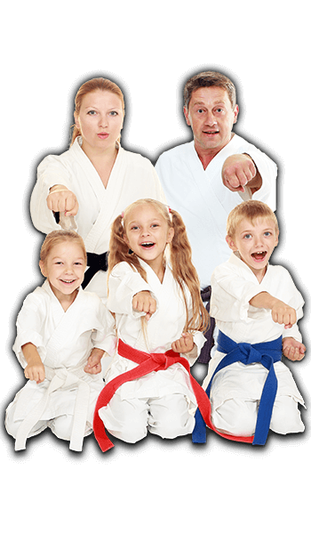 Martial Arts Lessons for Families in Allen TX - Sitting Group Family Banner