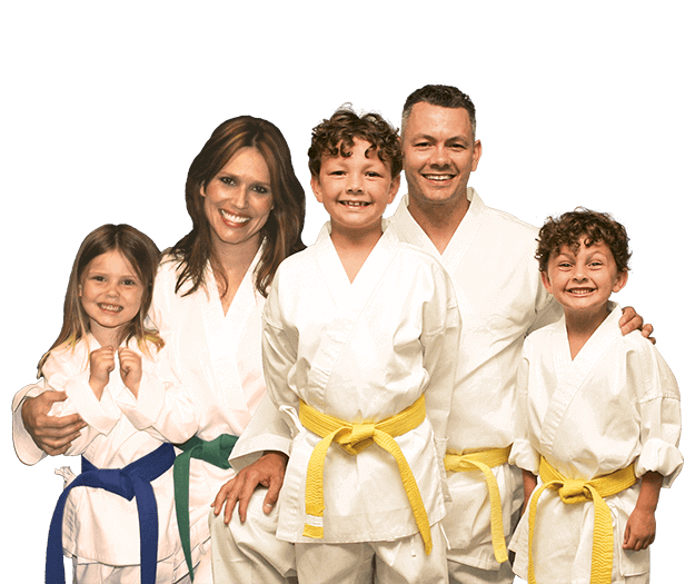 Martial Arts Lessons for Families in Allen TX - Group Family for Martial Arts Footer Banner