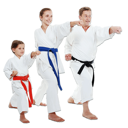 Martial Arts Lessons for Families in Allen TX - Man and Daughters Family Punching Together